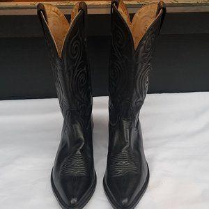 Tony Lama Vintage Black Cowboy Boots
